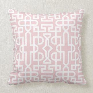 Blek - rosa- och vitjärnspaljé kudder kudde