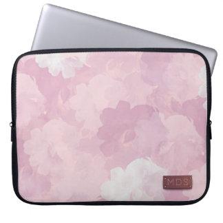 Blek - rosa vattenfärgrolaptop sleeve