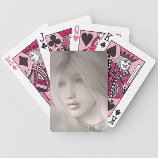 Blek som leker kort spelkort