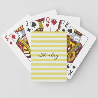 Bleka guld- och vitrandar av Shirley Taylor Casinokort