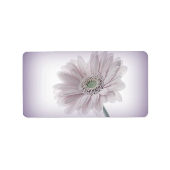 Bleka lila solrosetiketter adressetikett