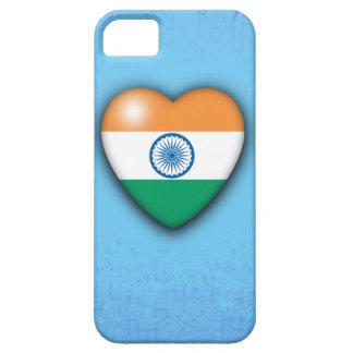 Bleken för Indien flaggahjärta - slösa iPhone 5 Skydd