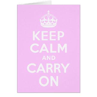 Bleken - rosabehållalugn och bär på hälsningskort