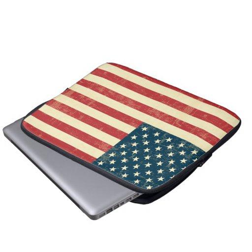 Bleknad amerikanska flaggan som åldras laptopskydd