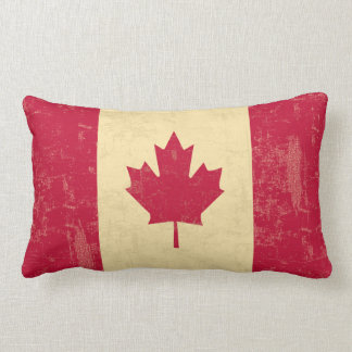 Bleknad flagga av Kanada vintage Lumbarkudde