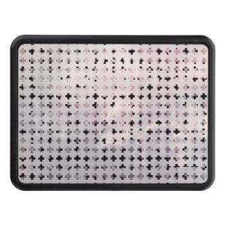 Bleknat argt geometriskt mönster för Grunge svart Skydd För Dragkrok