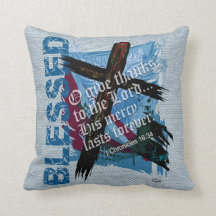 Blessed Bible Scripture 1st Chronicles 16:34 Throw Pillow