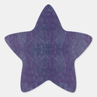 bleu baroque stjärnformat klistermärke