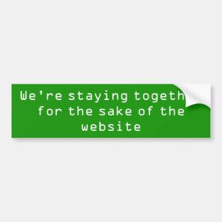 Bli tillsammans för saken av websiten bildekal