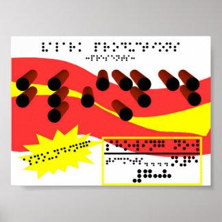 Blindskriftannons Poster