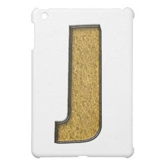 Bling guld J iPad Mini Skal