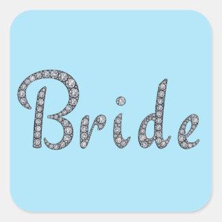 Bling klistermärke för brud