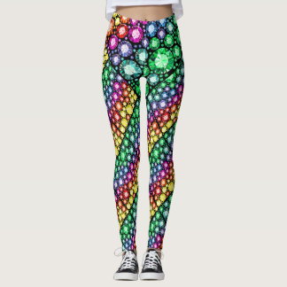 Bling mig upp 3 popmodedamasker leggings
