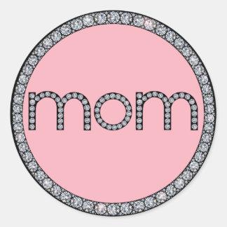 Bling ringklistermärke för mamma runt klistermärke