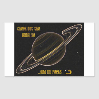 Bling Saturn Rektangulärt Klistermärke