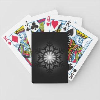 Blinka den svart snowflaken spel kort