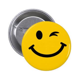 Blinka smiley face standard knapp rund 5.7 cm