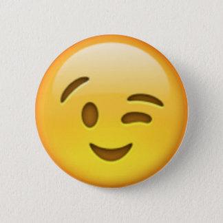 Blinkningen Emoji klämmer fast Standard Knapp Rund 5.7 Cm