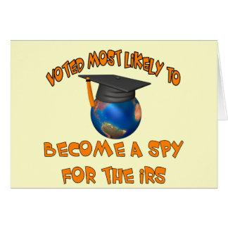 Blir en spion hälsningskort