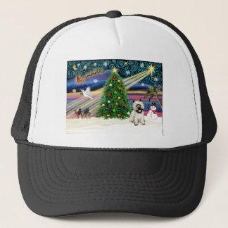 Blk för julafton Magic-CairnTerrier5 maskerar Truckerkeps