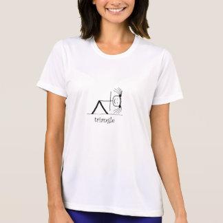 Blk-triangelkvinna utslagsplats för genomkörare t-shirts