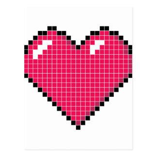 Blocky hjärta vykort