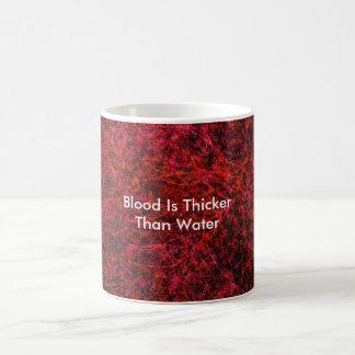 Blod är mer tjock än vatten kaffemugg