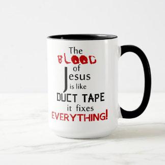 Blod av Jesus är den lika kanalen tejpar