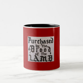 Blod av lamben Två-Tonad mugg