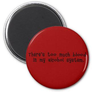 Blod i alkoholsystemmagnet magnet rund 5.7 cm