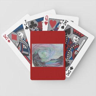 Blod- och turkospokerdäck spelkort