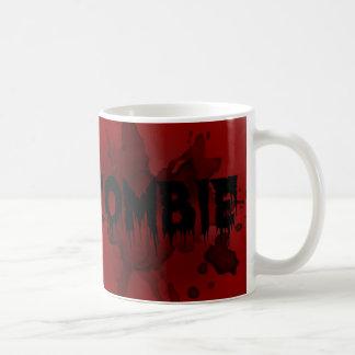 blod och zombie vit mugg