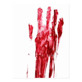 Bloda ner mord vykort