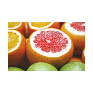 Blodapelsincitrusfrukt Canvastryck