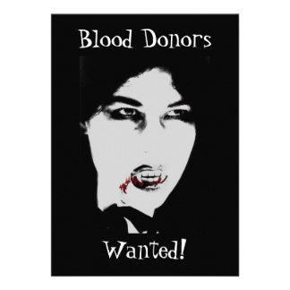 Blodgivare önskade den vampyrHalloween inbjudan
