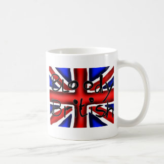 Blodig britt vit mugg