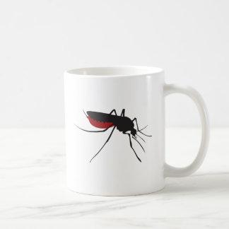 Blodig mygga vit mugg