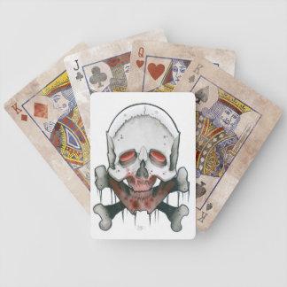 blodig skalle och ben spelkort