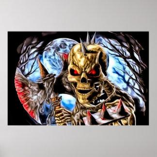 Blodig skelett- affisch
