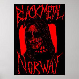 Blodig svart metall poster