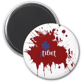 Blodiga fria tibet magnet rund 5.7 cm