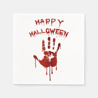 Blodiga halloween räcker pappersservetter