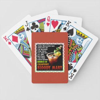 BLODIGA MARY, frunch av mästare Spelkort
