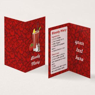 Blodigt Mary recept Visitkort