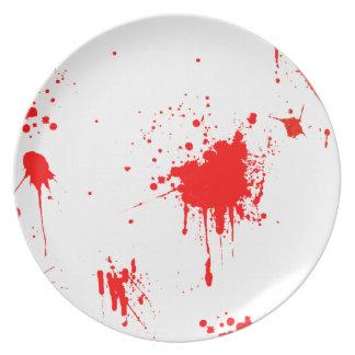 Blodigt plätera dinner plates