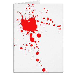 BlodSplatter Hälsningskort