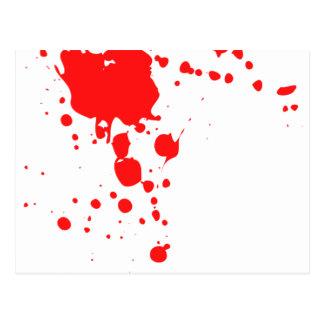BlodSplatter Vykort
