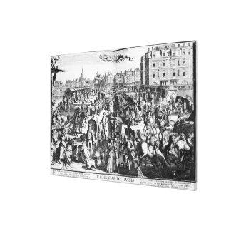 Blodstockningen i Paris Canvastryck