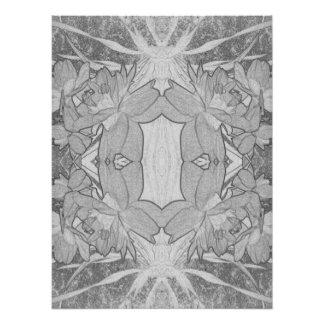 blom- abstraktion fototryck