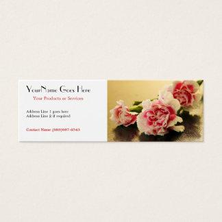 Blom- affärsrosanejlikor litet visitkort
